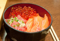Fresh red caviar. Japanese food Stock Photography