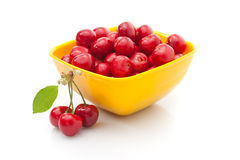 Fresh red cherries Royalty Free Stock Photography