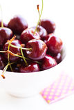 Fresh red cherries Stock Images