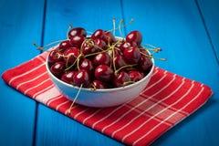 Fresh red cherries. Stock Photos