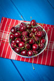 Fresh red cherries. Royalty Free Stock Images