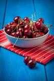 Fresh red cherries. Royalty Free Stock Image