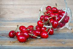 Fresh red cherries Royalty Free Stock Photo