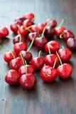 Fresh Red Cherries Stock Images