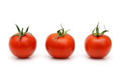 Fresh Red Cherry Tomatoes isolated Royalty Free Stock Photo