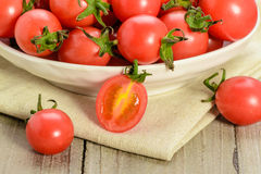 Fresh red cherry tomatoes Royalty Free Stock Image