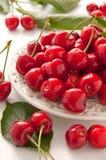 Fresh red cherry Stock Photos