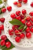 Fresh red cherry Stock Photo