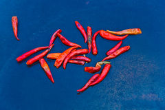 Fresh red chili pepper at a market in Bangkok Stock Photography