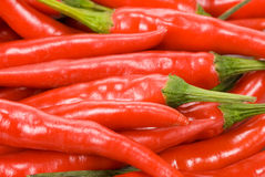 Fresh red chili peppers Stock Photo
