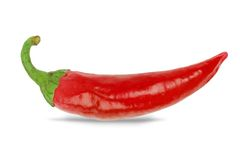 Fresh Red chilly close up Royalty Free Stock Photos