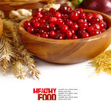 Fresh red cranberries Royalty Free Stock Photos