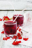 Fresh red currant drink Royalty Free Stock Image