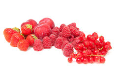 Fresh red fruits Royalty Free Stock Photos