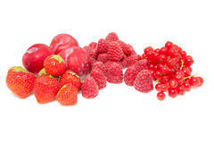 Fresh red fruits Royalty Free Stock Images