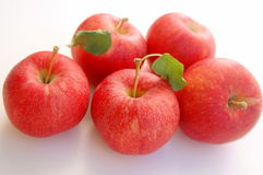 Fresh Red Gala apples Royalty Free Stock Images