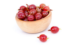 Fresh red gooseberries Stock Image