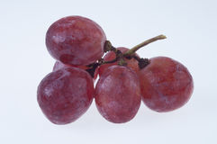 Fresh red grape. On white background Royalty Free Stock Images