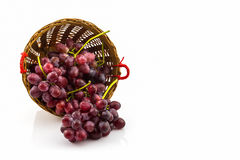 Fresh Red Grape in basket. Royalty Free Stock Photo