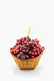Fresh Red Grape in basket. Royalty Free Stock Image