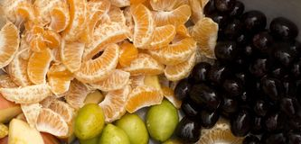 Natural Fresh mix fruits royalty free stock photography