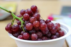 Fresh red grape in break time. This is fresh red grape in break time Stock Photos