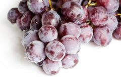 Fresh red grape isolated Stock Photo