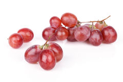 Fresh red grape isolated on white.  Stock Image