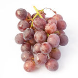 Fresh red grape isolated on white Stock Photo