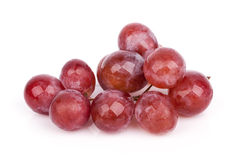 Fresh red grape isolated on white Royalty Free Stock Photography