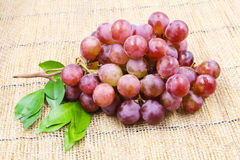 Fresh Red Grape. On the sack Stock Photography