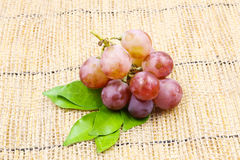 Fresh Red Grape. On the sack Royalty Free Stock Images