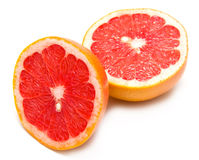 Fresh red grapefruit. On white background. Isolation Royalty Free Stock Images