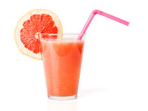 Fresh red grapefruit juice Royalty Free Stock Photos