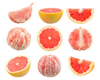Fresh Red Grapefruit Stock Photography