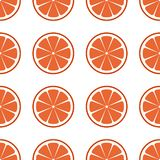 Fresh red grapefruit sliced vector illustration on white. Seamless grapefruit pattern royalty free illustration