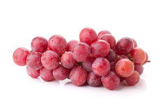 Fresh red grapes branch Stock Photos
