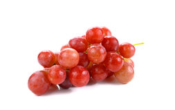 Fresh red grapes isolated on white background. Red grapes isolated on white background stock image