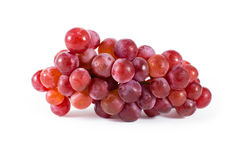 Fresh red grapes isolated on white background Royalty Free Stock Photo
