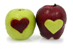Fresh Red and Green Apple Royalty Free Stock Images