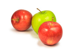 Fresh red and green apple Stock Photo