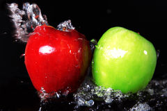 Fresh red and green apples Royalty Free Stock Photography