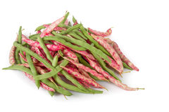 Fresh red and green beans Royalty Free Stock Photography