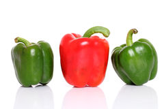 Fresh Red and green bell pepper Stock Photo