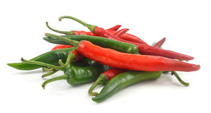 Fresh red and green cayenne pepper Stock Image