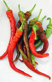 Fresh red and green peppers Royalty Free Stock Image