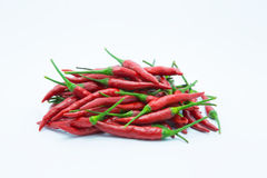 Fresh red hot chile on white Royalty Free Stock Photography