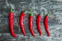 Fresh Red hot Chilli Chillies peppers Stock Photo