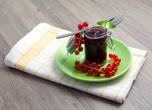 Fresh red jam Stock Images