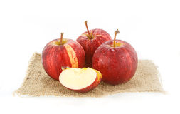 Fresh red  juicy  apples fruit isolated on white background Royalty Free Stock Photography